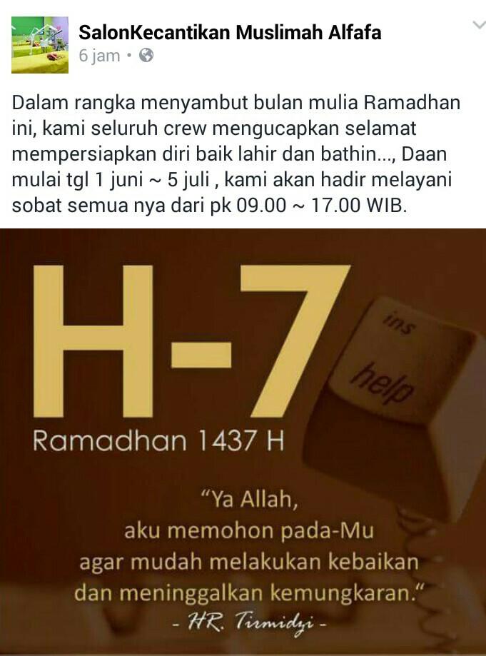 ALFAFA Ramadhan 1437H